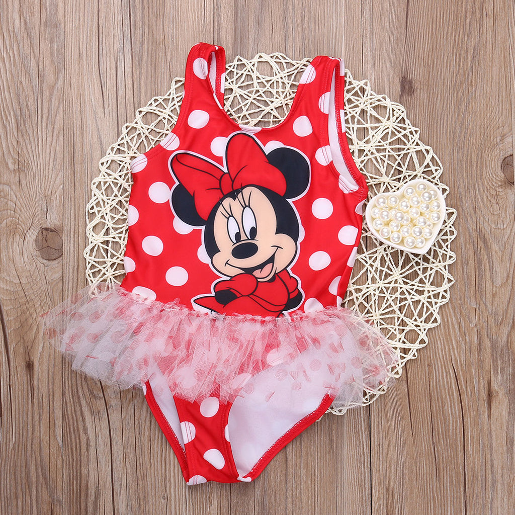 Mini Mouse beach Dress for 2-6 Year old Girls