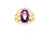 Amethyst & Diamond 14K Gold Ring