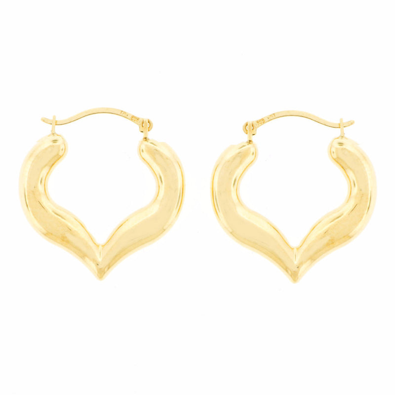 'Hearts' 14K Gold Hoop Earrings