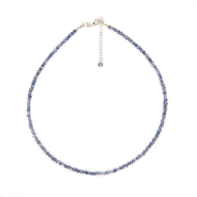 Sapphire Faceted Necklace