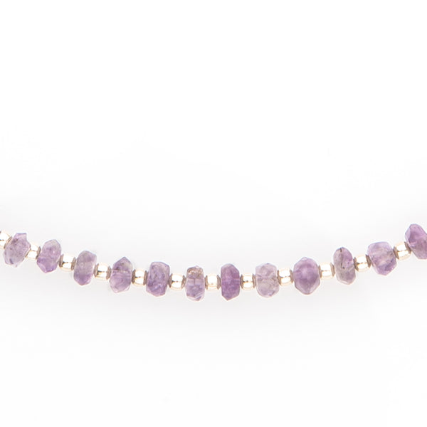 Faceted Amethyst & Sterling Silver Necklace