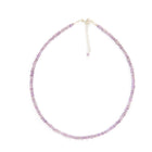 Amethyst Gemstone Necklace - 4mm