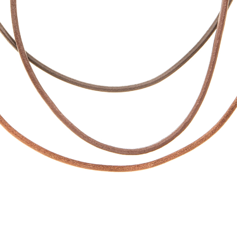 Multi Colored Leather Necklaces - 3
