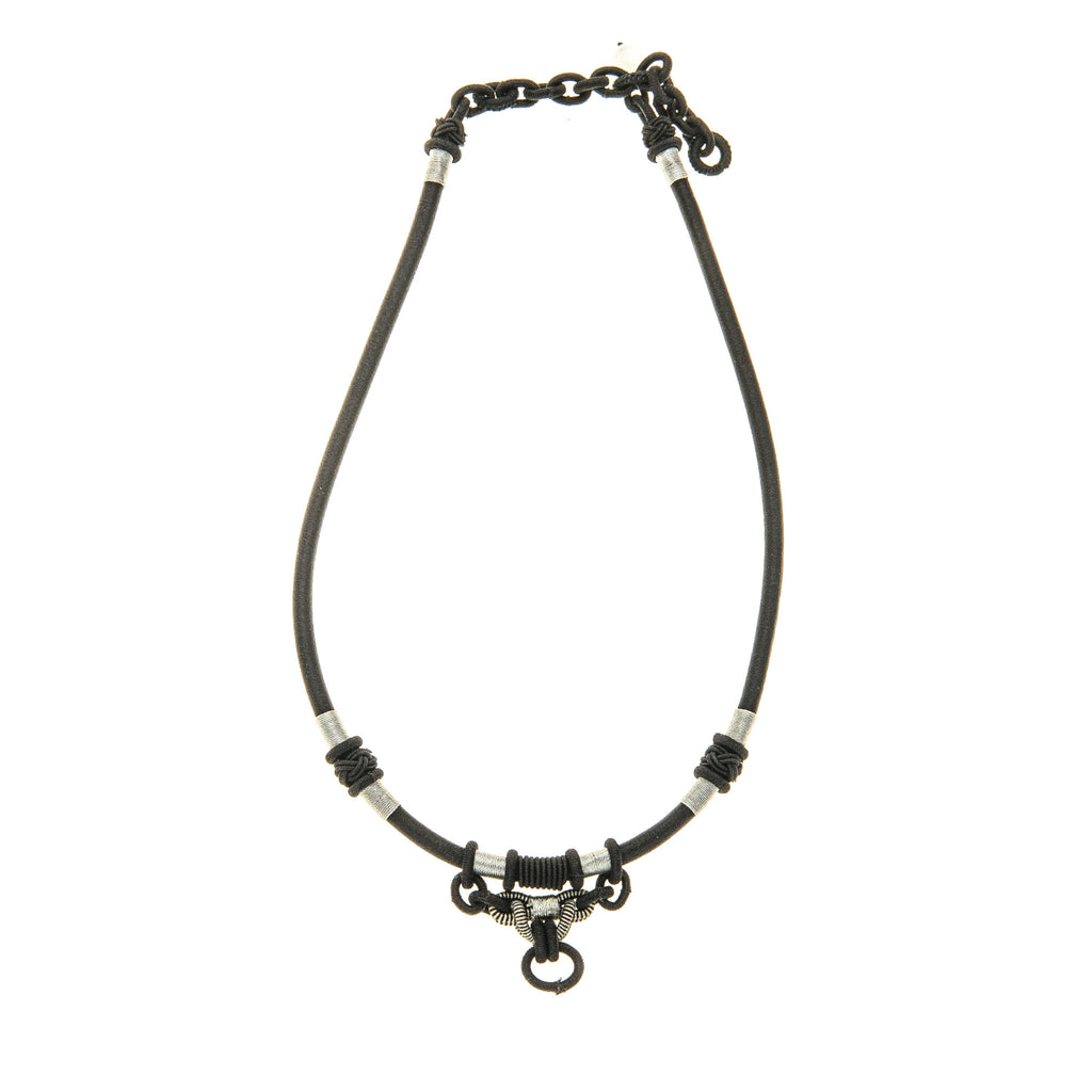 Black silver pendant holder necklace bella zahran pendant holder necklace aloadofball Gallery