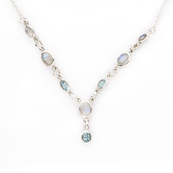 Aquamarine & Moonstone Necklace