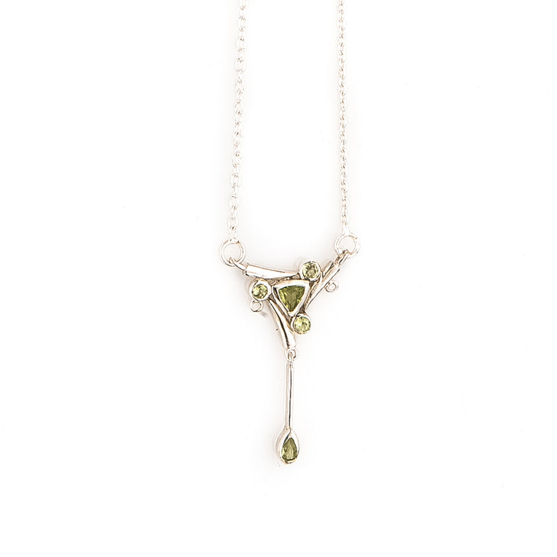 Peridot Sterling Silver Drop Necklace