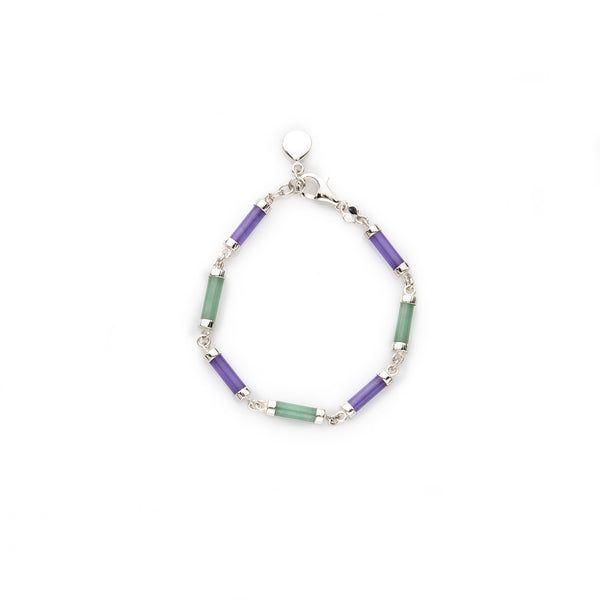 Green and Lavender Jade Bracelet