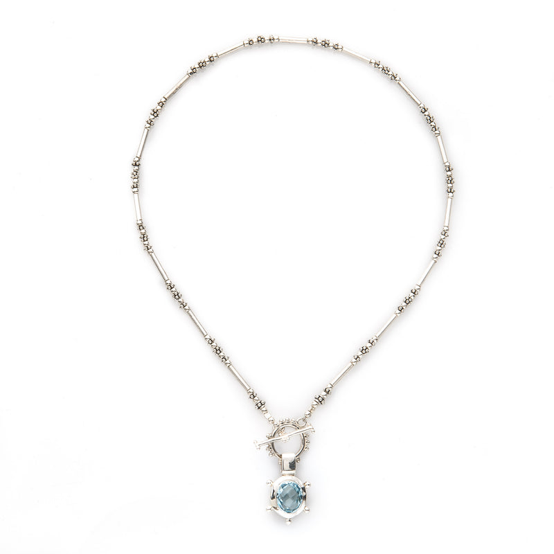 Sterling Silver Aquamarine Pendant Necklace