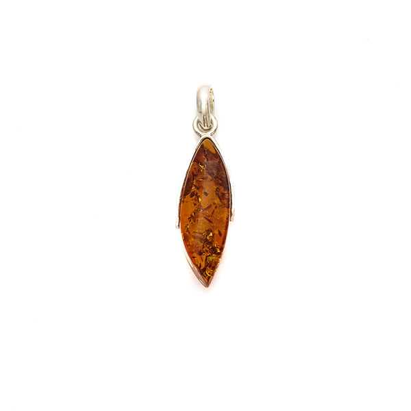 Amber Pendant Sterling Silver