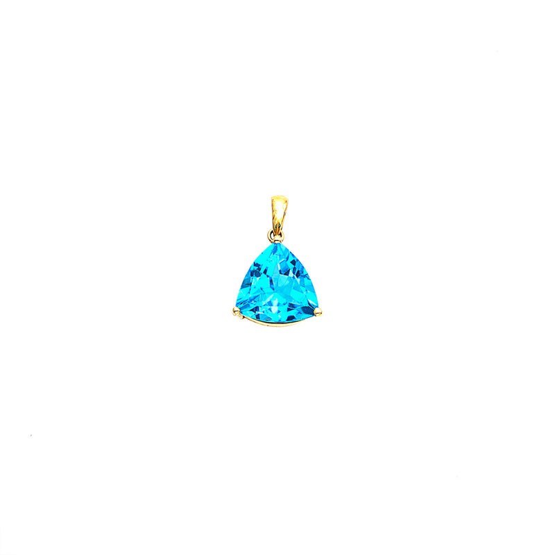 Blue Topaz Trillion in 14K Gold