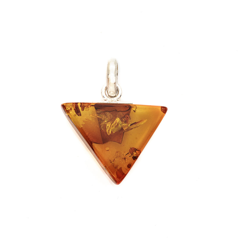 Triangle Honey Amber Pendant