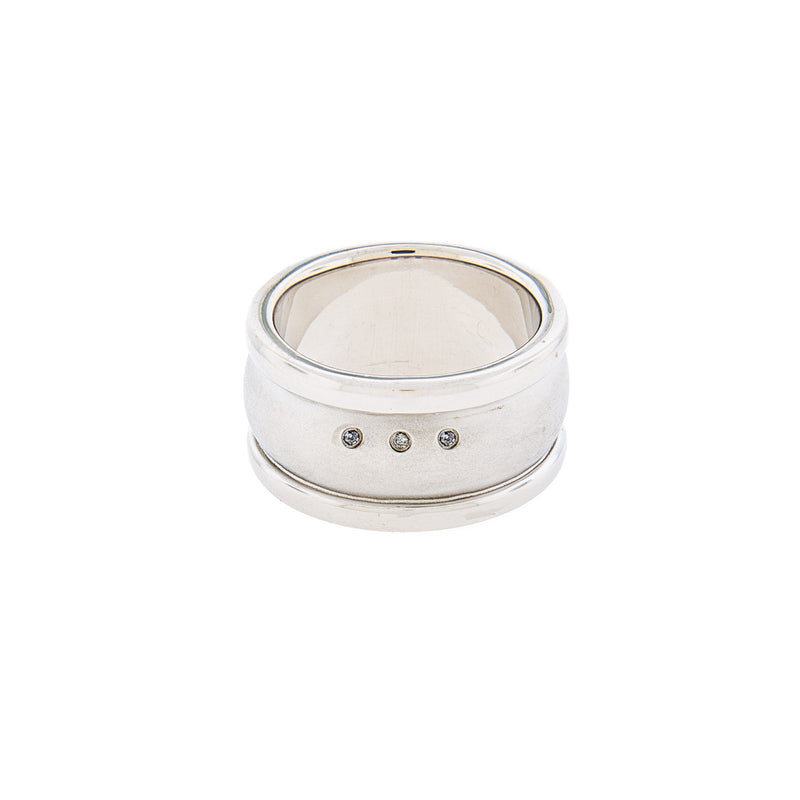 Diamond & Sterling Silver Men's Ring