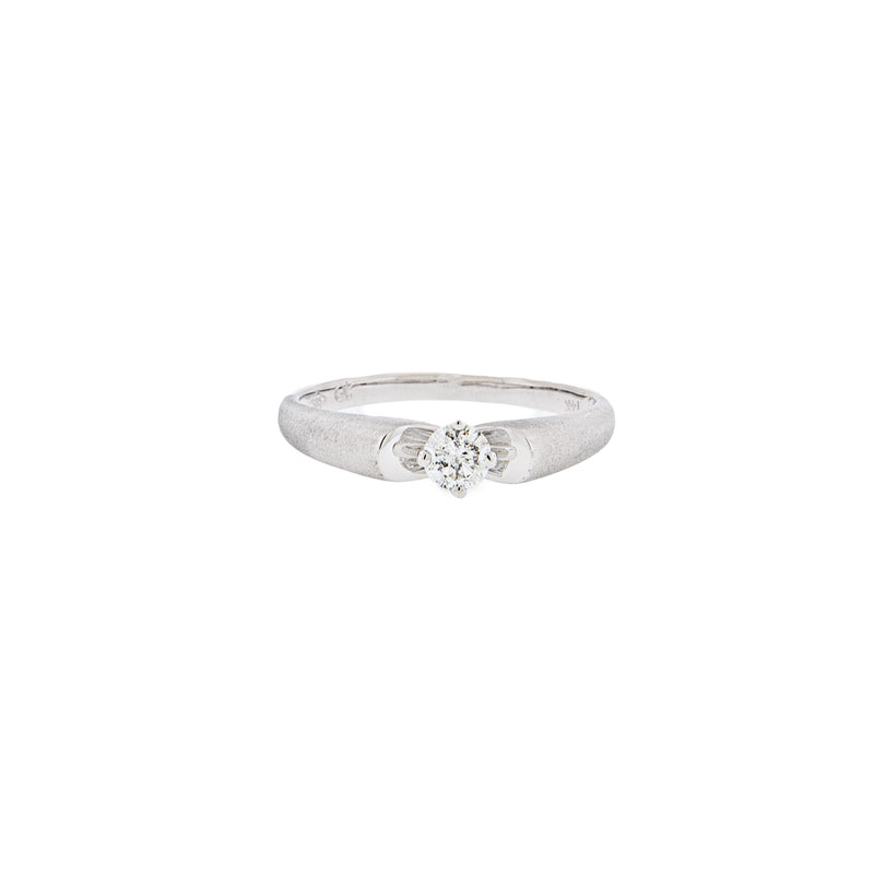 Diamond Ring 14K White