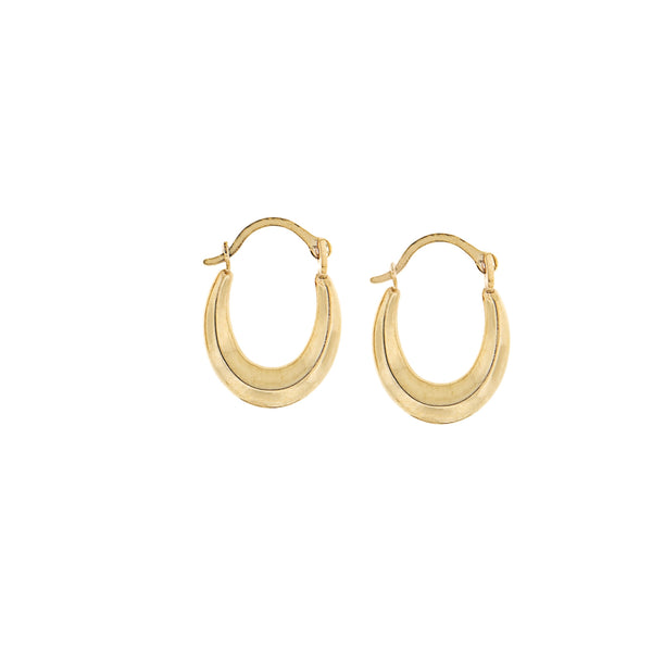 Hoop Earrings - Petite 'Swag' 14K Yellow Gold