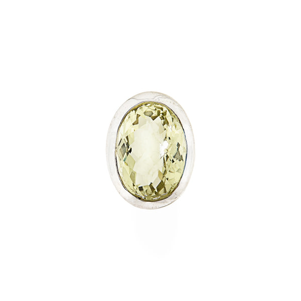 Oval Citrine Pendant Sterling Silver