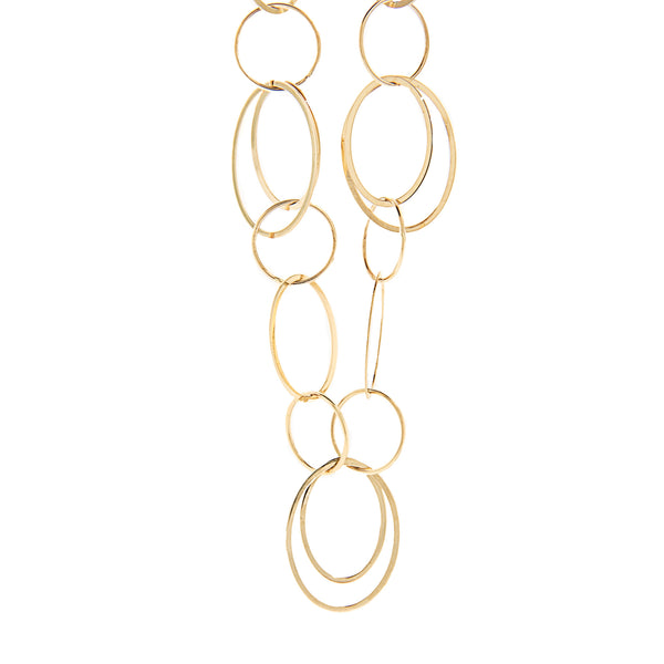 "36"" 14K Yellow Gold Chain Necklace - Large Loop"