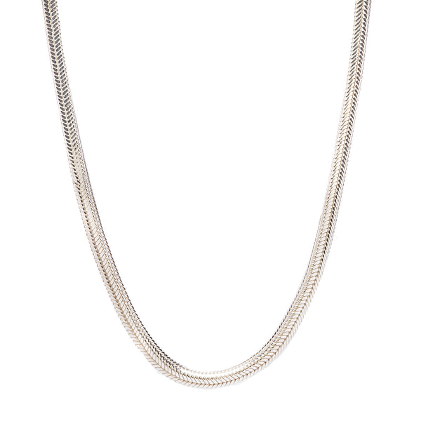 Foxtail Square Chain in Sterling Silver
