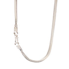 Square Foxtail Sterling Silver Chain Necklace