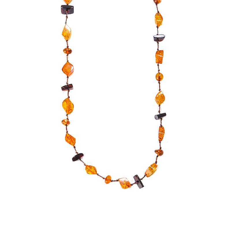 "52"" Long Amber Neckalce"