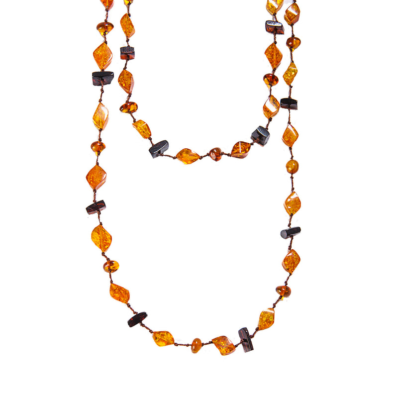 "Amber Necklace 52"" LOng"