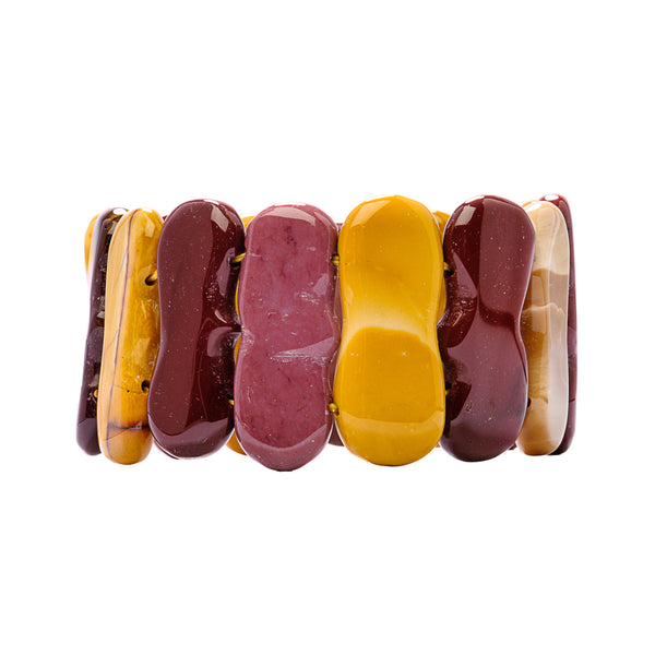 Mookaite Wide Stretch Bracelet