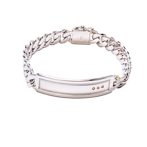 Diamond Curb Link Bracelet