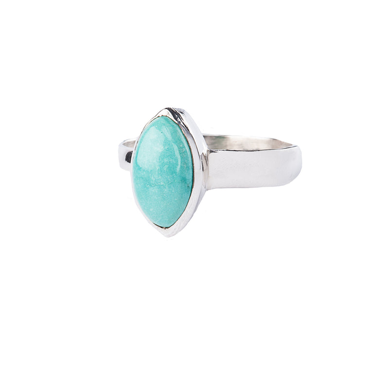 Turquoise Marquise Sterling Silver Ring
