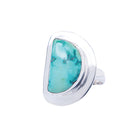Half Moon Shaped Turquoise Sterling Silver Ring