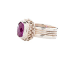 Rose Corundum Ring Sterling Silver Granulation & Filigree