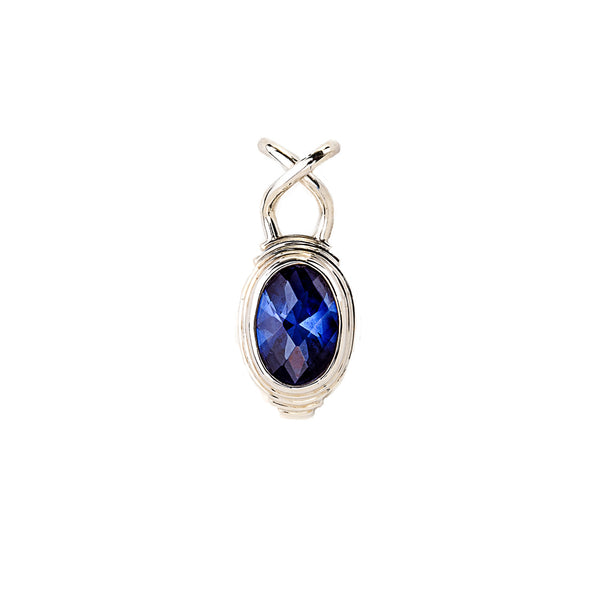 Blue Quartz Pendant set in Sterling Silver