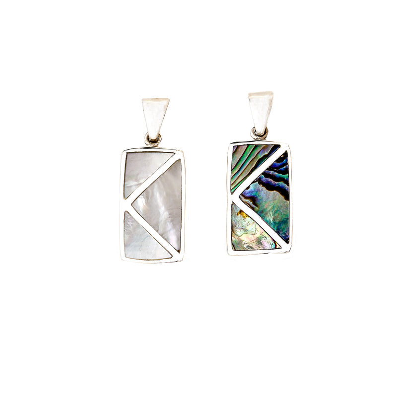 Reversible Abalone & Mother of Pearl Pendant