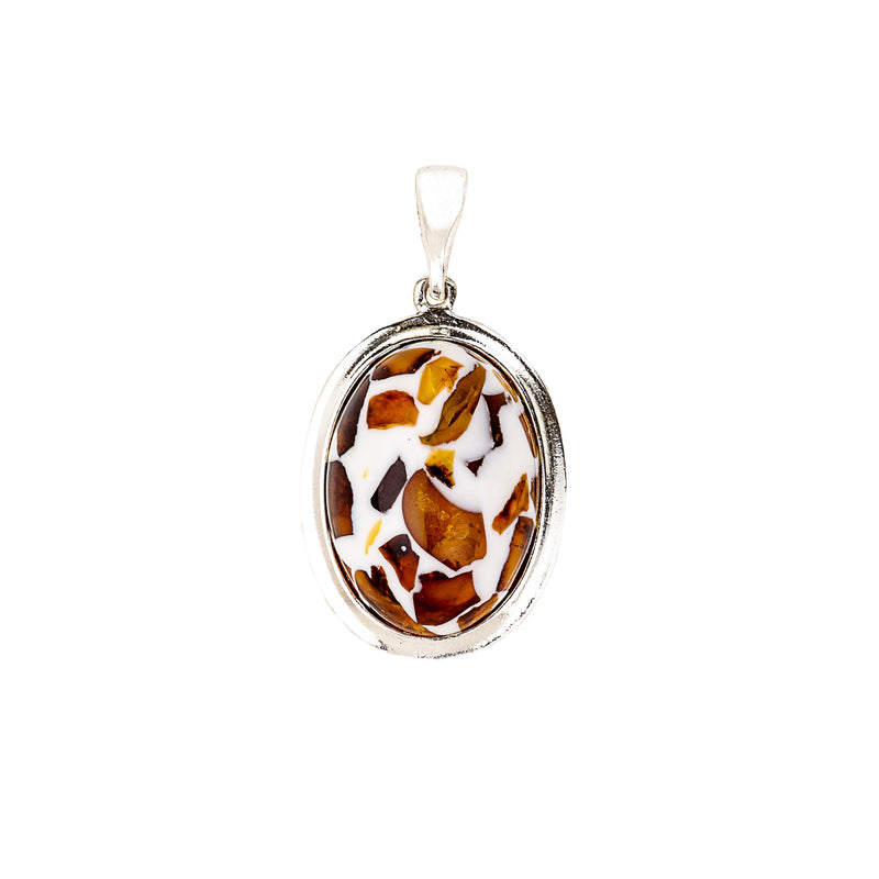 Marshmallow Delight Mixed Amber Pendant