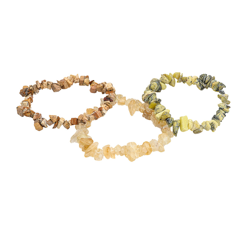 Natural Gemstone Bracelets Picture Jasper Citrine & Yellow Turquoise