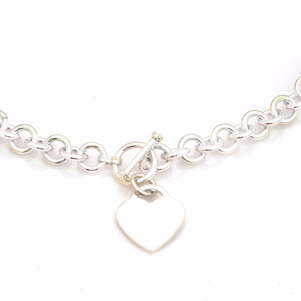Heart Front Toggle Sterling Silver Necklace