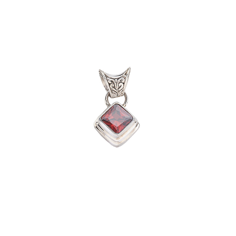 Cherry Quartz Sterling Silver Pendant