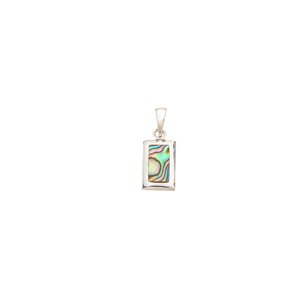 Rectangle Sterling Silver & Abalone Pendant