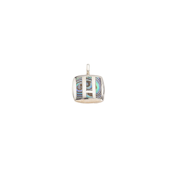 Abalone-Mother of Pearl Reversible Sterling Silver Pendant