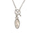 Marquis Moonstone Toggle Sterling Silver Necklace