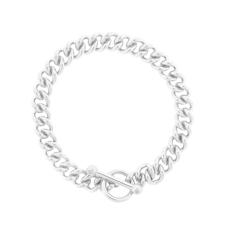 Large Chainlink Braclet with Diamond Toggle