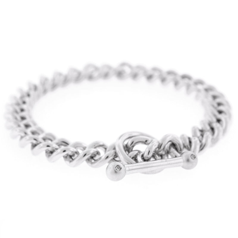 Diamond Toggle Chain link Bracelet