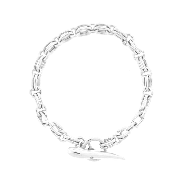 Men's Diamond Italian Horn Sterling Silver Bracelet