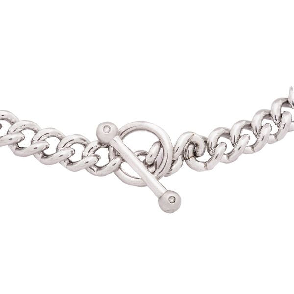 Men's Diamond Toggle Bracelet Large Chain Link