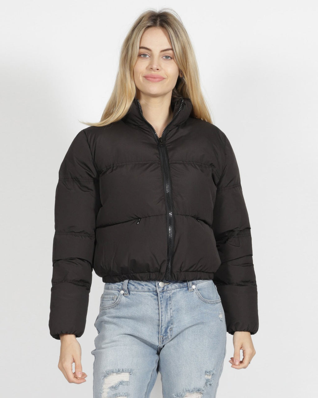 Meline Puffer Jacket BLACK