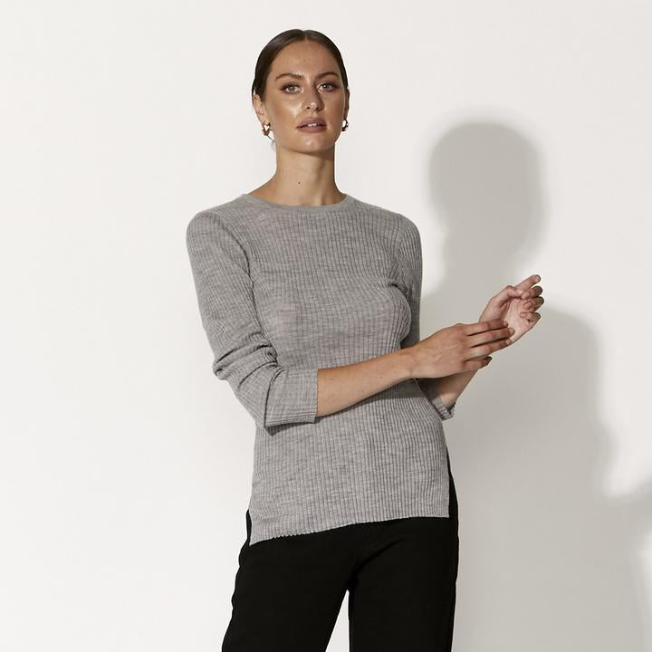 Papermoon Top GREY MARLE