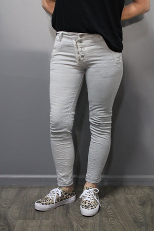 Italian Star Jeans Dove Grey