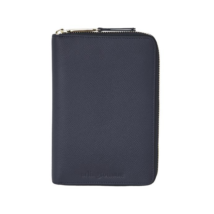 Arlington Milne - Emma Leather Wallet // Navy Saffiano