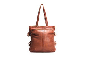 Mahson and co. Free Spirit Shoulder Bag. Cognac