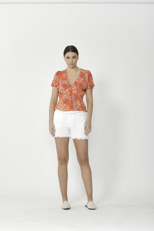 Nancy Top Floral Print