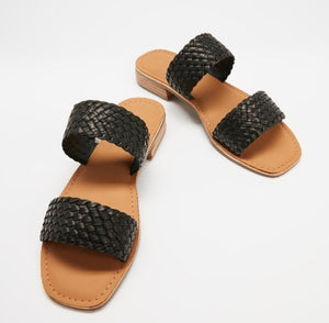 Oasis Leather Slides Black