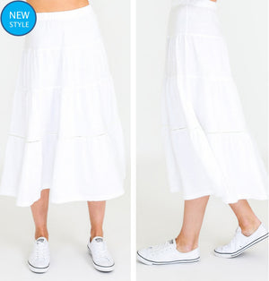 Piper Skirt White